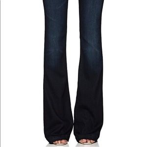 J Brand flared stretch denim jeans; sit @ waist 27